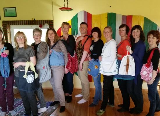 Islandi ja Kadrina pedagoogidega taaskasutuse töötuba